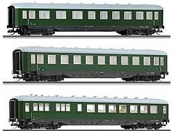 3-dílný set rychlíkových vozů OBB