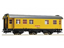 Osobní obytný vůz stavebního vlaku, tříosý, DB