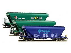 Set tří silovagonů řady Uagpps, SK a CZ