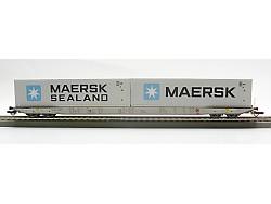 Plošiný vůz SGGNSS 80´, CZ-MT, MAERSK a Maersk Sealand