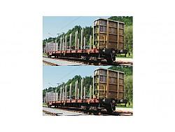 set 2 plošinových vozů RCA ÖBB