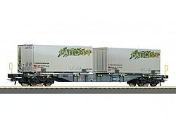 Kontejnerový vůz řady Sgns se dvěma kontejnery Fattorini, SBB