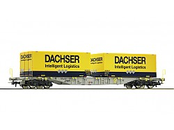 Kontejnerový vůz se 2 kontejnery Dachser, AAE