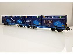 Set InnoWaggon vozů s nákladem 4 kontainerů 7 Sev.en, CD Cargo, 1000 Wagons