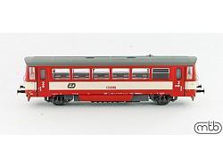motorový vůz ř. 810.172-7 ČD červeno-krémový
