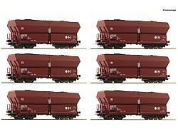 set 6 vozů Fals 183 s uhlím DB AG