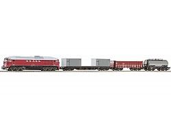 Analogový set, vlak s lokomotivou T679 ČSD, koleje s podložím