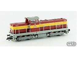 dieselová lokomotiva T466 0265 ČSD Pielstick, žlutý pruh