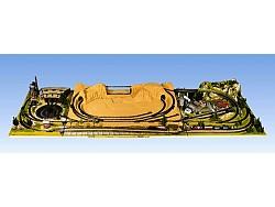 Doplňková krajinka pravá s dlouhým tunelem 100 x 120cm
