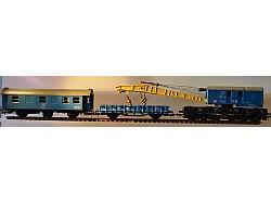 Pracovní vlak s jeřábem ČSD